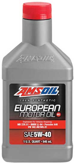 SAE 5W-40 MS Synthetic European Motor Oil