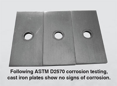 antifreeze corrosion test results